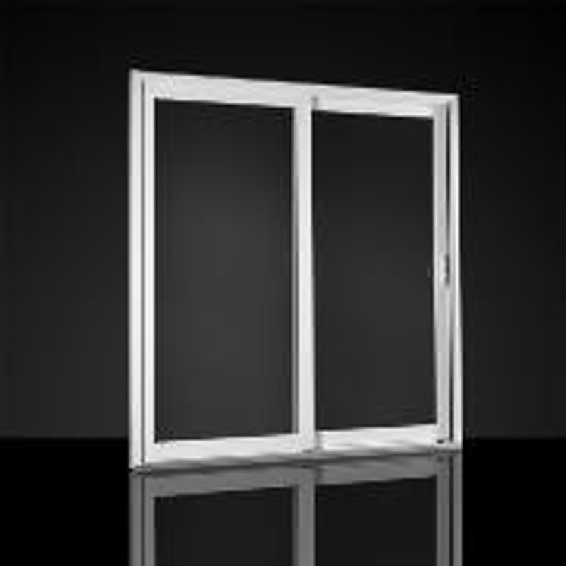 Model of white MI Windows 1600 series sliding doors.