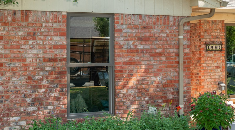Newly installed replacement window.