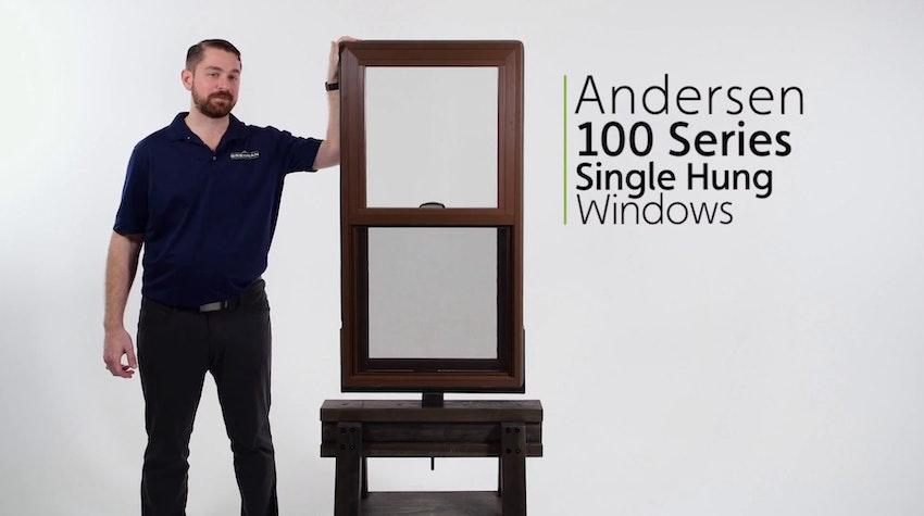 Andersen 100 Series Fibrex Single Hung Window Review Video Thumbnail Image