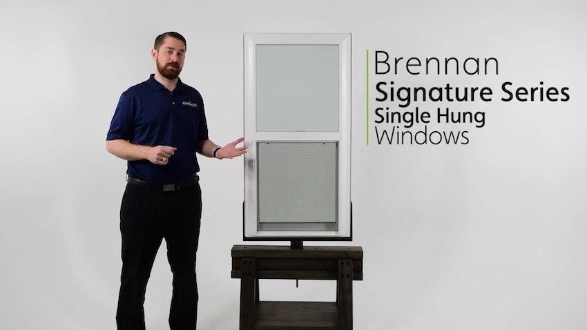 Brennan Signature Single Hung Vinyl Window Review Video Thumbnail Image