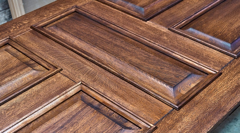Close up of a wood door. Image: Adobe Stock Images