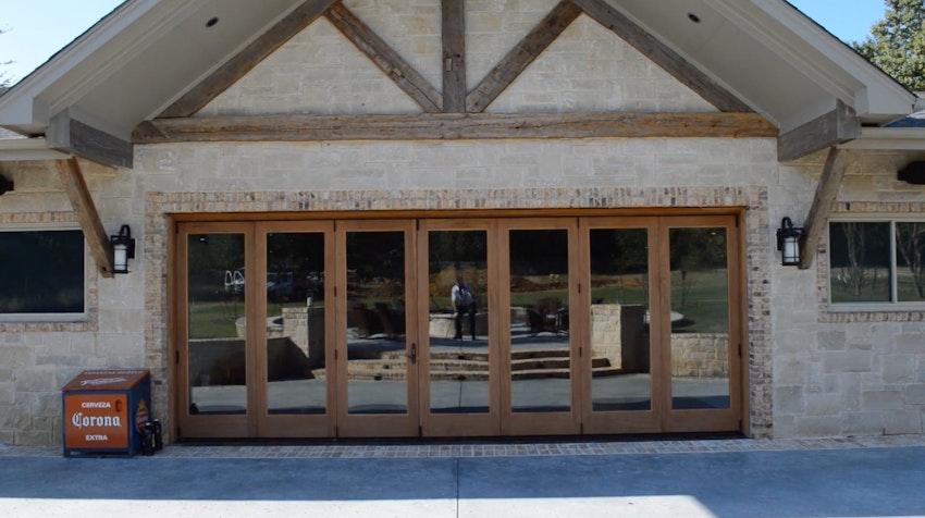 20' Wood Folding Door Install in Southlake, TX Thumbnail Image