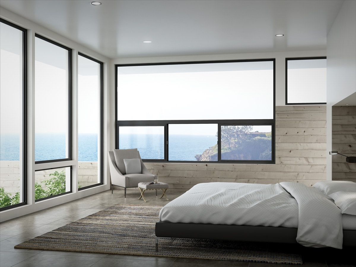 Milgard Aluminum Windows are the perfect fit in a contemporary home and especially in one with amazing views.