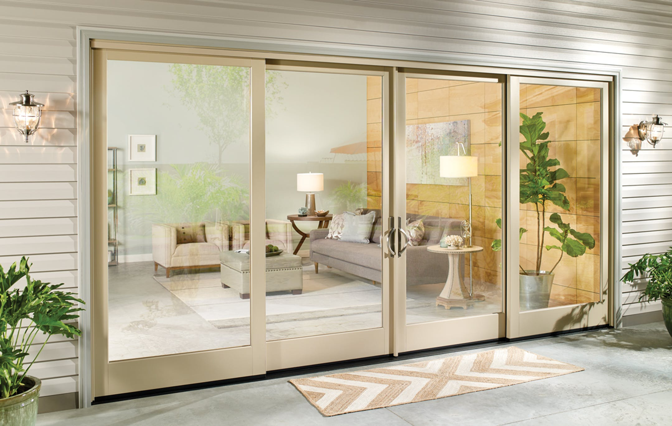 4 Panel Milgard Essence Sliding Patio Door