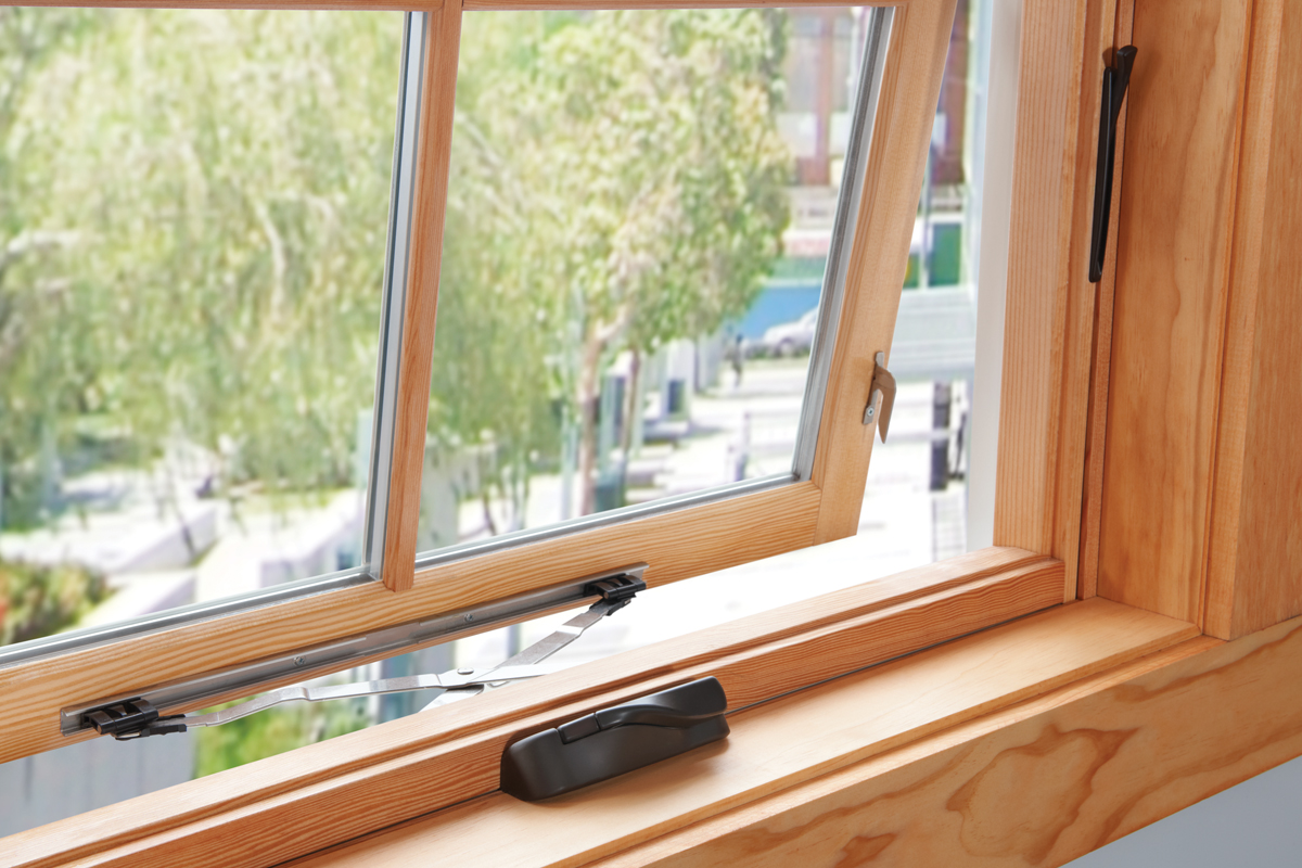 Milgard Essence Awning Fiberglass and Wood Windows