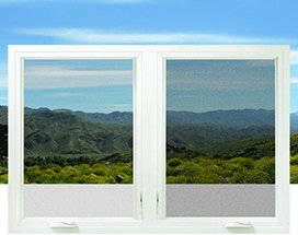 Image of casement windows with insect screens.
