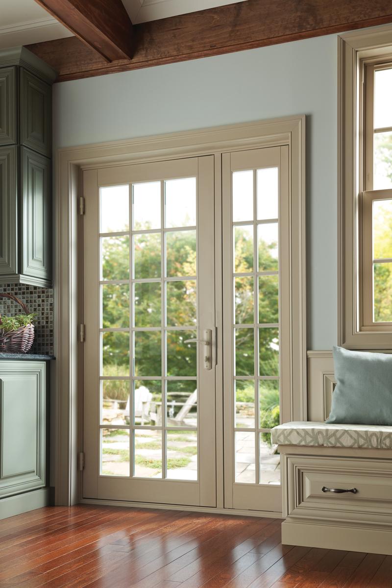 Milgard Tuscany French Style Swinging Patio Doors