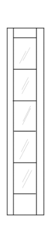 Illustration of transom with full height of glass with grids