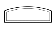 Transom design example showing rectangular shape with curved top lines