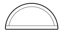 Transom design example showing round top and flat bottom, like a half circle