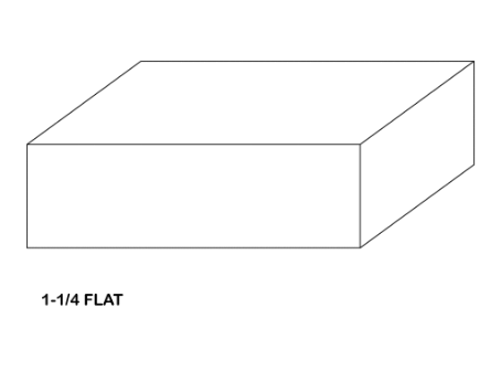 Illustration of flat wood door panel
