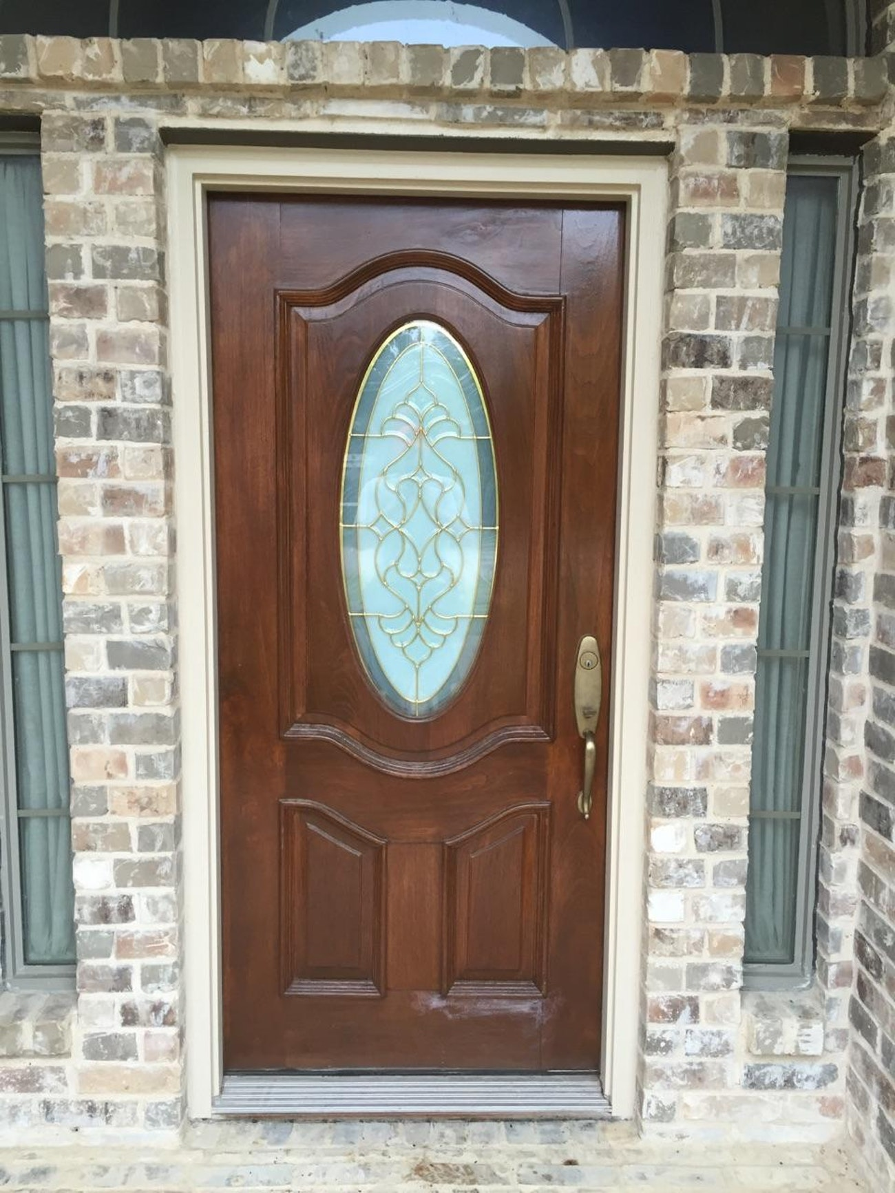 fiberglass door oval glass