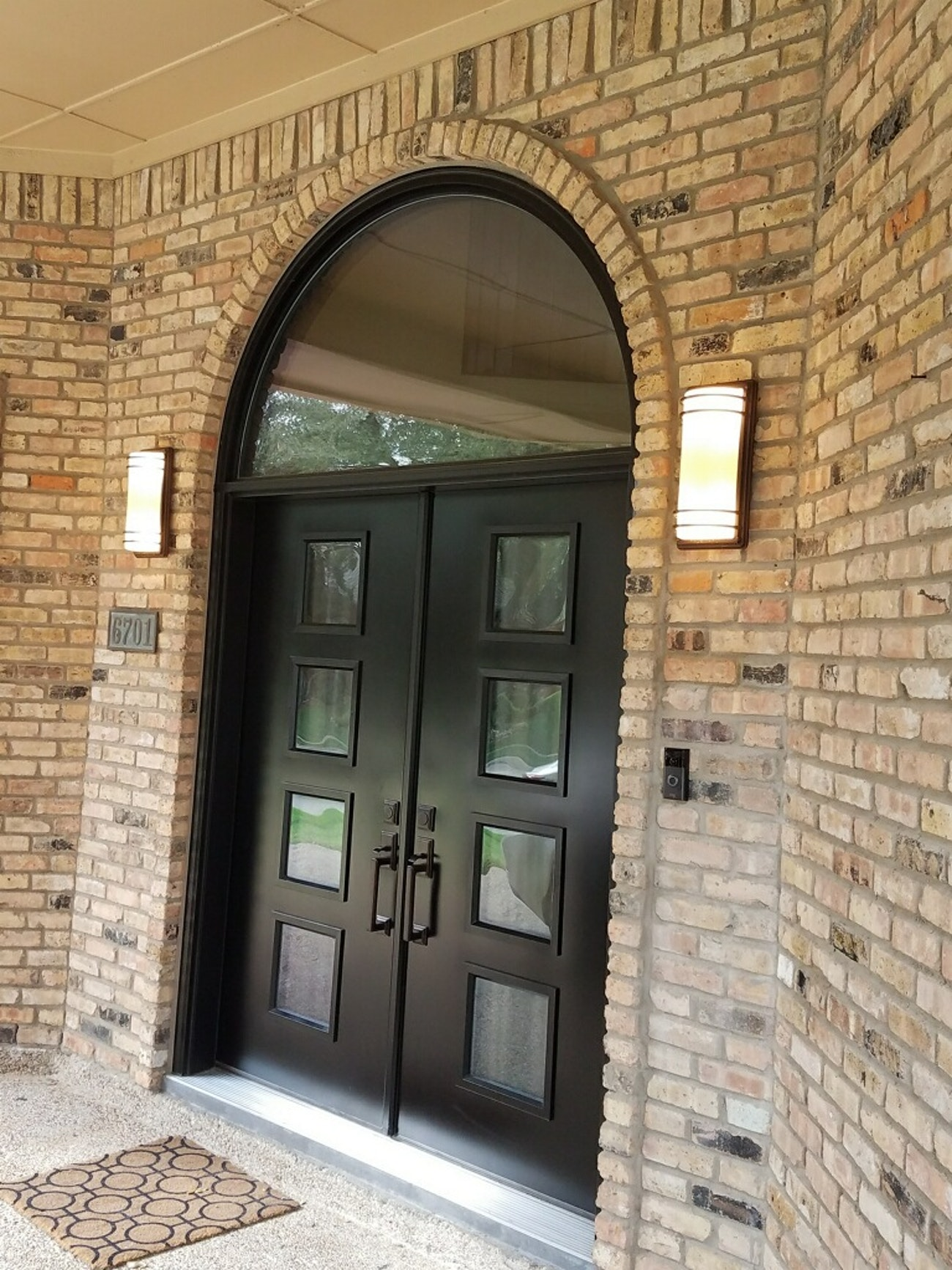 provia french doors with specialty windows