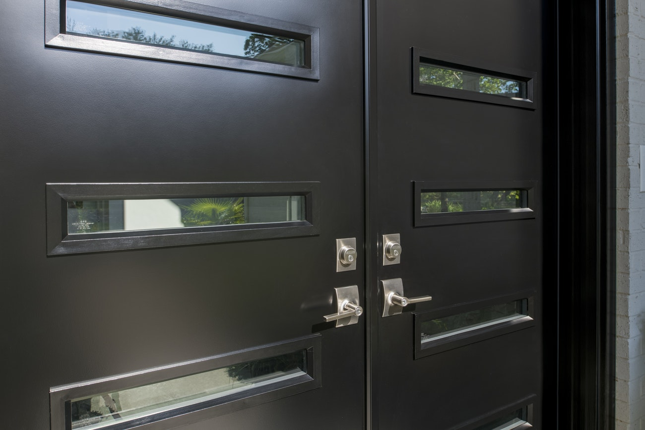 black-french-with-glass-panels-provia-doors