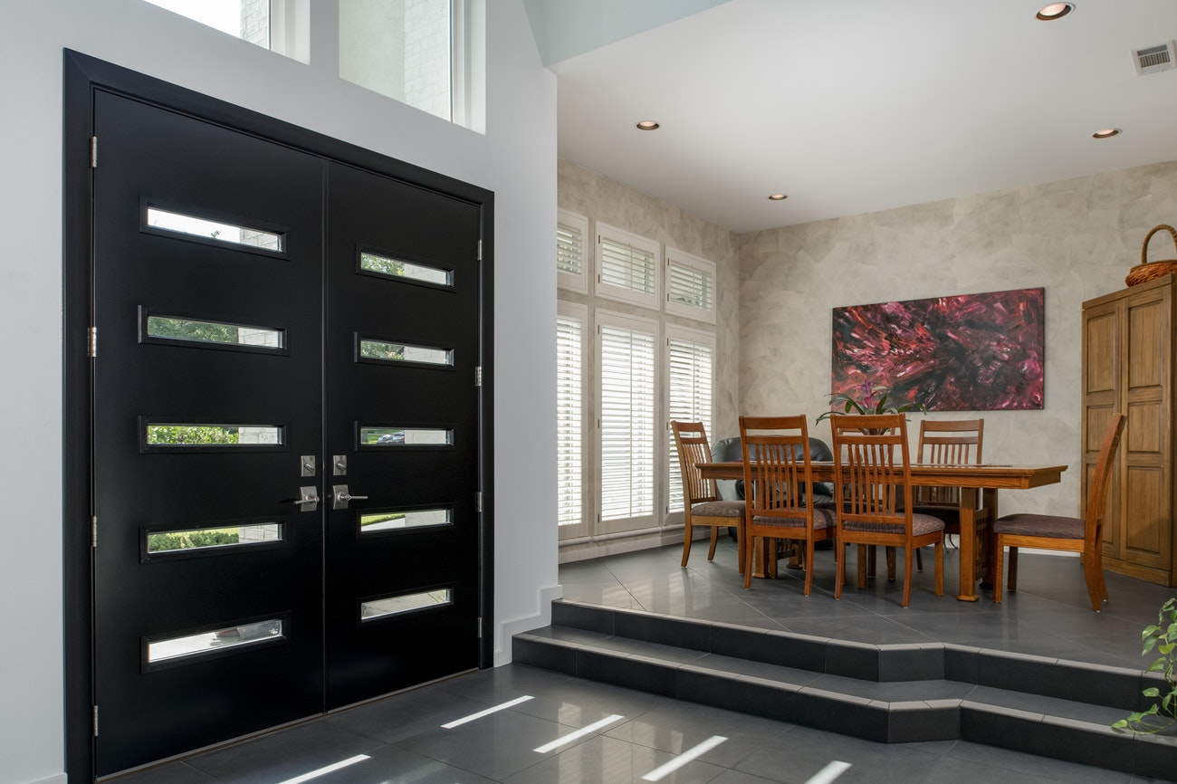 dining-room-view-of-black-french-provia-doors