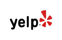 Yelp logo (Black-yelp; red graphic).
