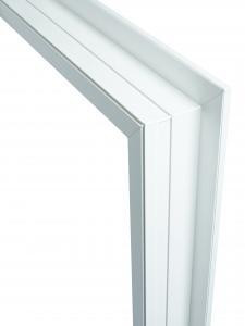 Section of Flush frame in white.