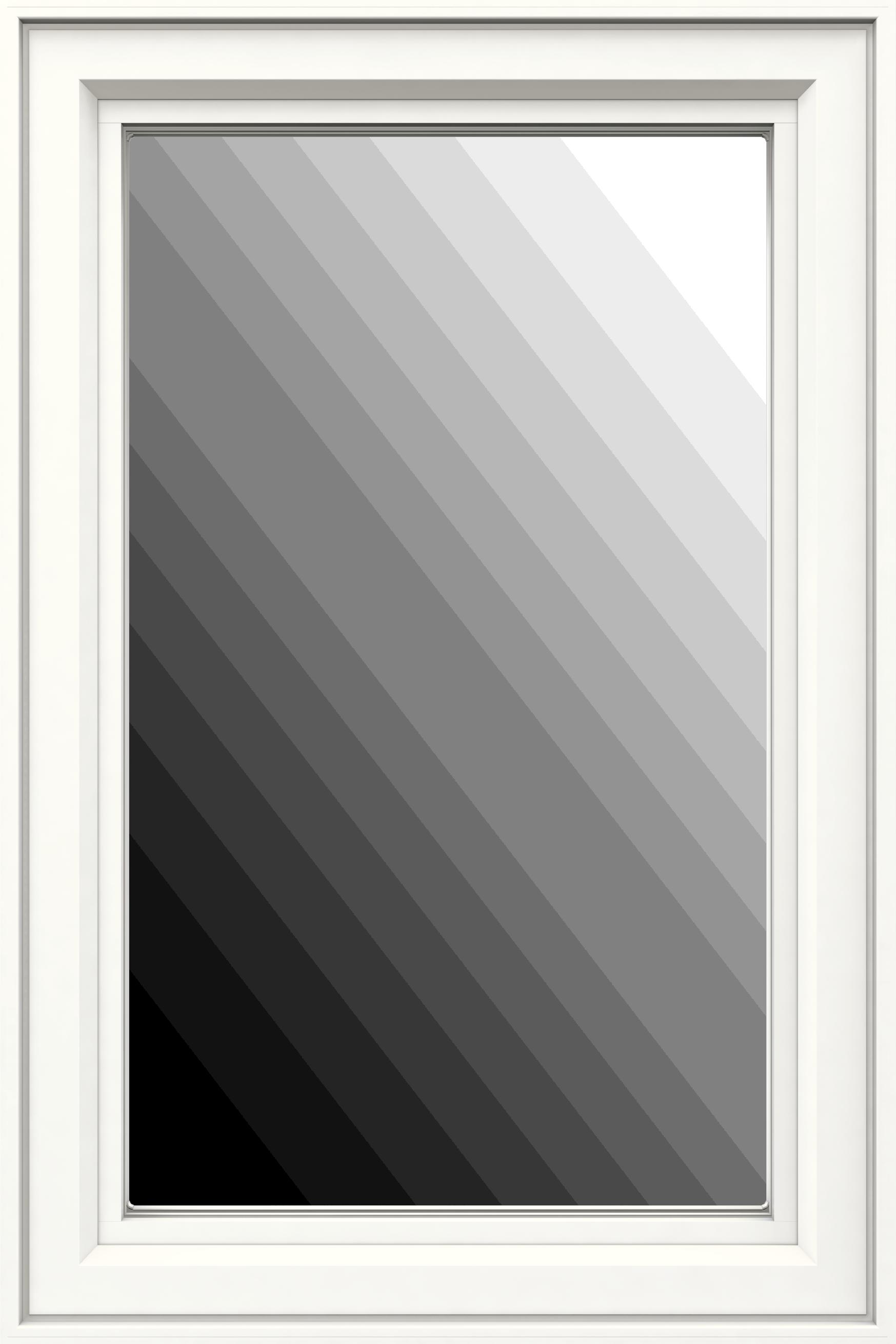 Jeld-Wen Premium Vinyl Casement Windows in white with no grille.