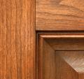 Jeld-Wen Premium Vinyl Cherry Woodgrain window option.