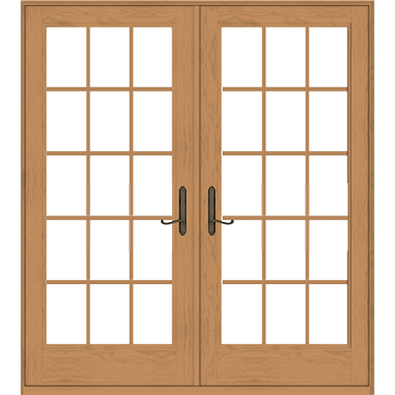 Andersen 400 Series Frenchwood Hinged Inswing Patio Doors