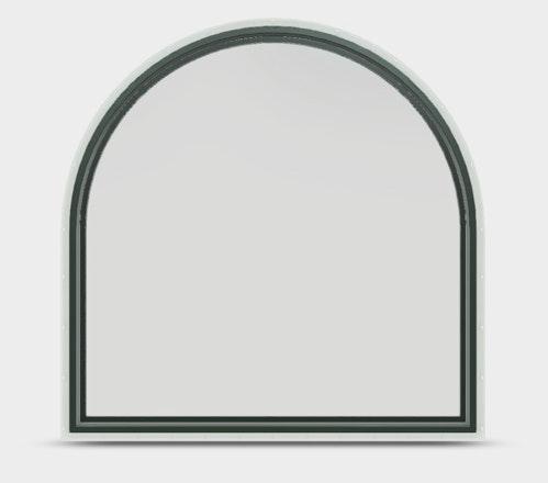 Jeld-Wen Premium Vinyl Half Round window in Hartford Green with no grille.