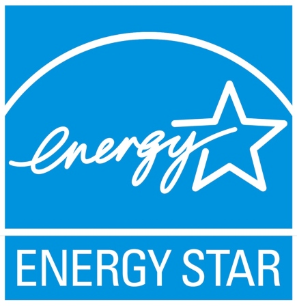 Energy Start brand logo with light blue background and white star and white text.