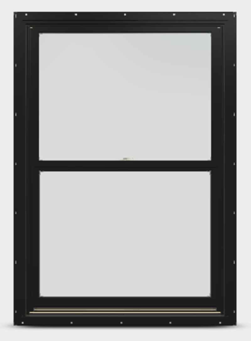 Black colored frame with two sashes.