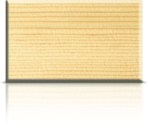 Sample of auralast pine wood window section.