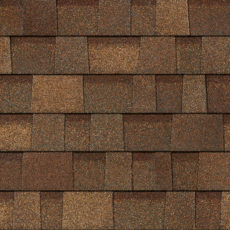 Sample of Oakridge shingles in aged cedar