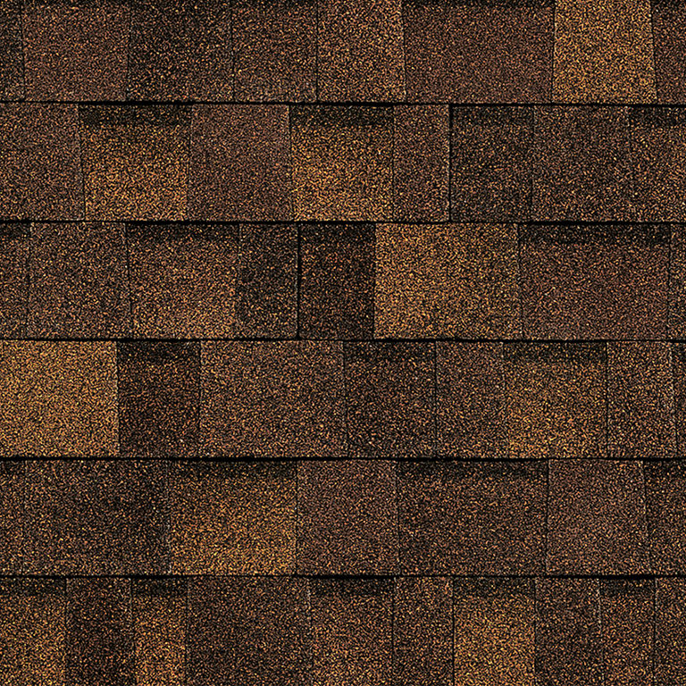Sample of Oakridge shingles in brownwood