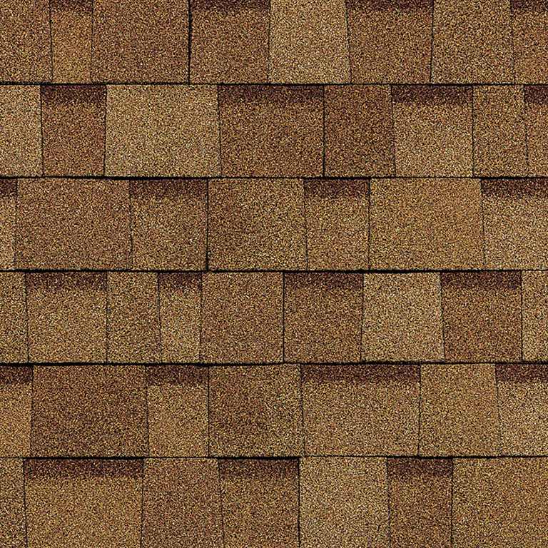 Sample of Oakridge shingles in desert tan