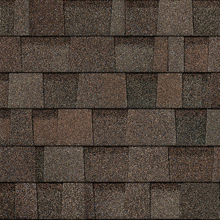Sample of Oakridge shingles in flagstone