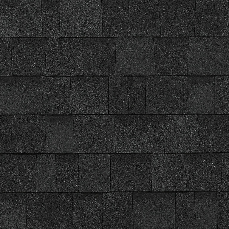 Sample of Oakridge shingles in onyx black