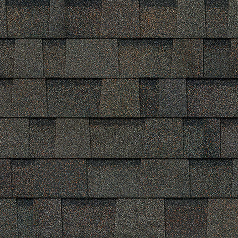 Sample of Oakridge shingles in peppermill gray