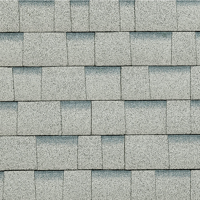 Sample of Oakridge shingles in shasta white