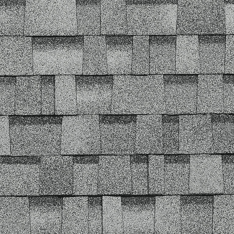 Sample of Oakridge shingles in sierra gray