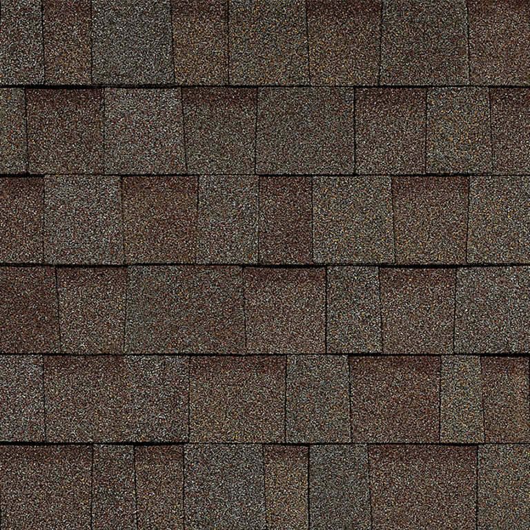 Sample of Oakridge shingles in teak
