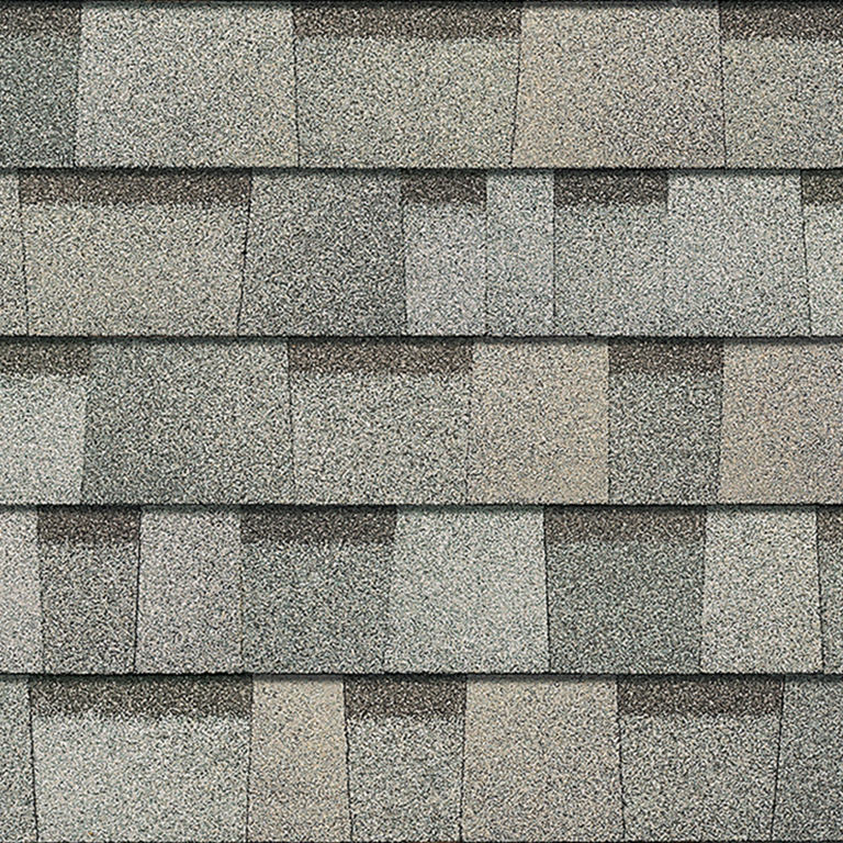 Sample of Duration Premium shingles in cool sage.