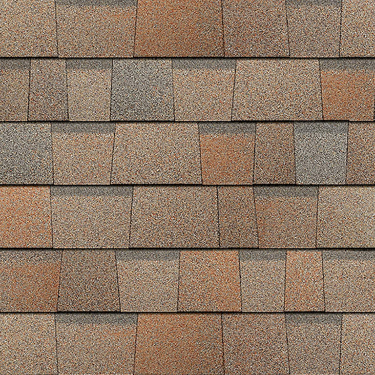 Sample of Duration Premium shingles in cool sunrise.